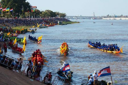 Colorful Boats on display during the Water Festival