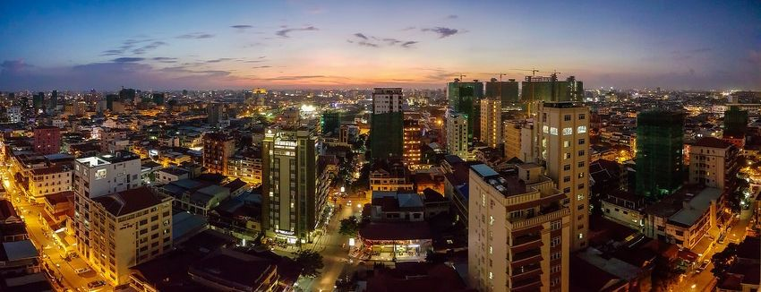 View of Cambodia's Skyline