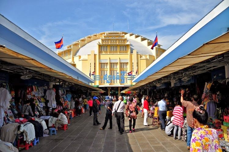 Outside View of the Central Market (photo from https://serviceone-kh.com)