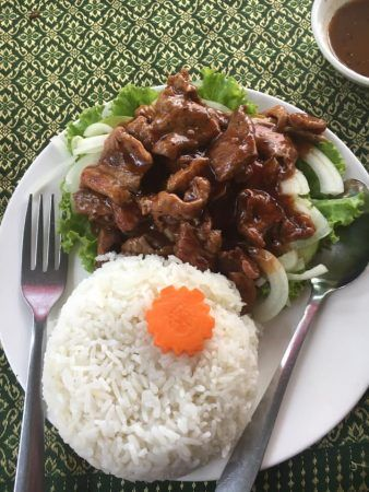 Beef Loc Lac served with Rice