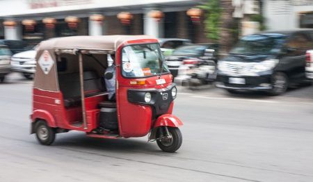Tuktuk is a major form of transportation in all parts of the Kingdom